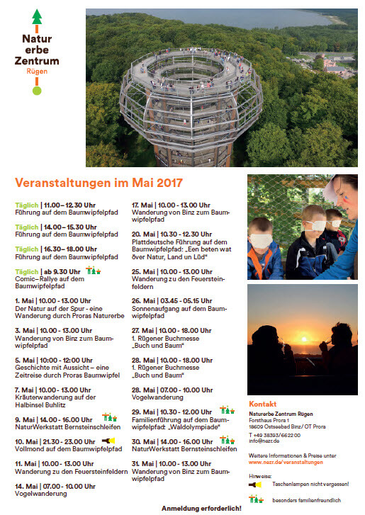 Treetop path Prora dates may 2017