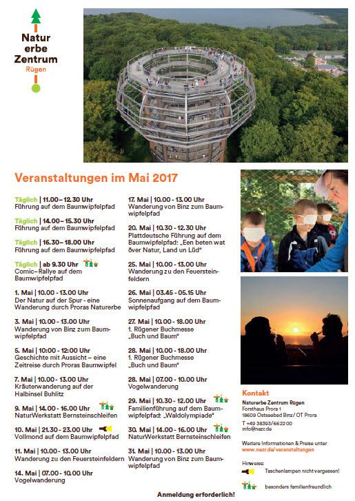 Treetop path Prora dates may 2017