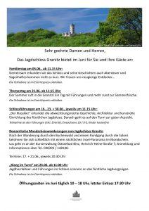Jagdschloss Granitz: Termine Juni 2016