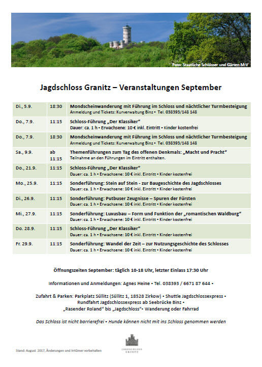 Jagdschloss Granitz September 2017