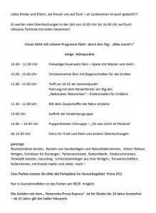 Programm Kindertagsfest