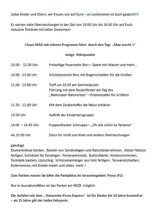 Program children's day Festival