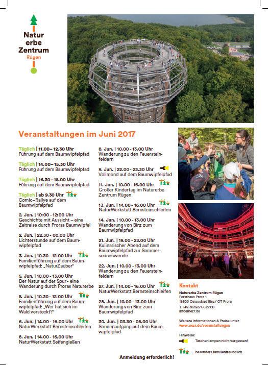 Natural Heritage Centre Prora June events 2017