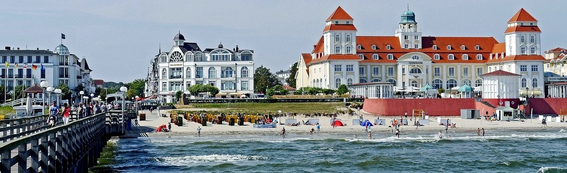 Panoramic view from the pier in BINZ