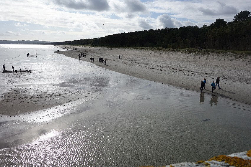 Panoramic view from the quayside in Prora on the Dog Beach