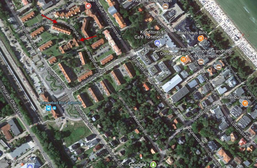 Google maps parking in BINZ