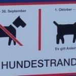 Hundestrand Binz Schilder