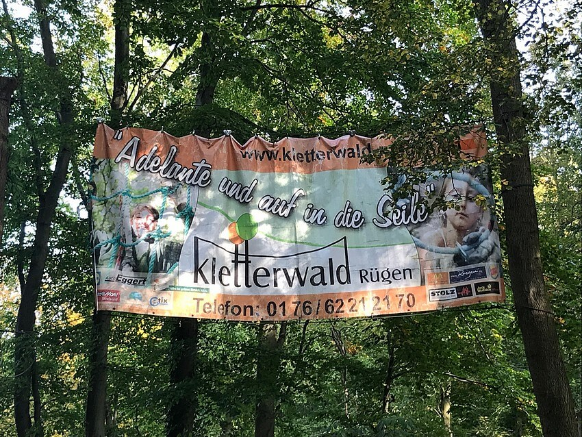 Climbing forest Ruegen : Action for young and old
