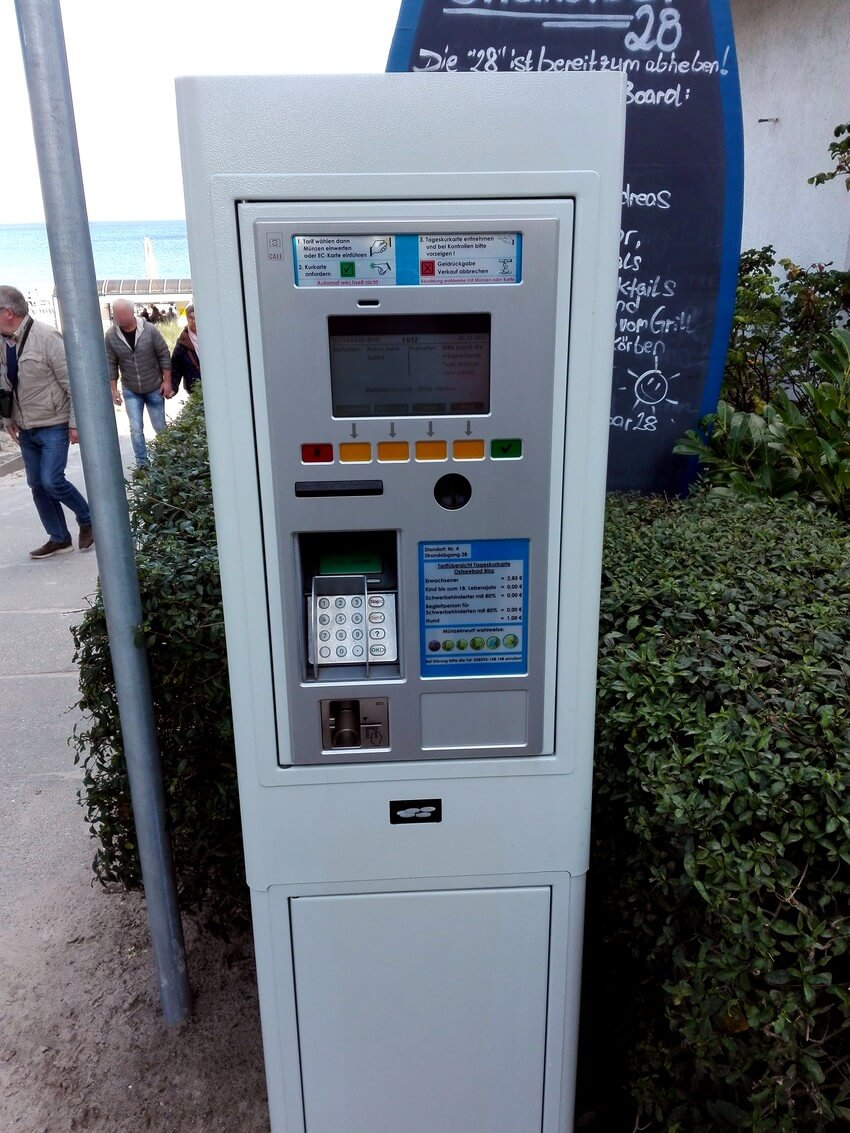 Tax maker in BINZ with coin payment or card payment