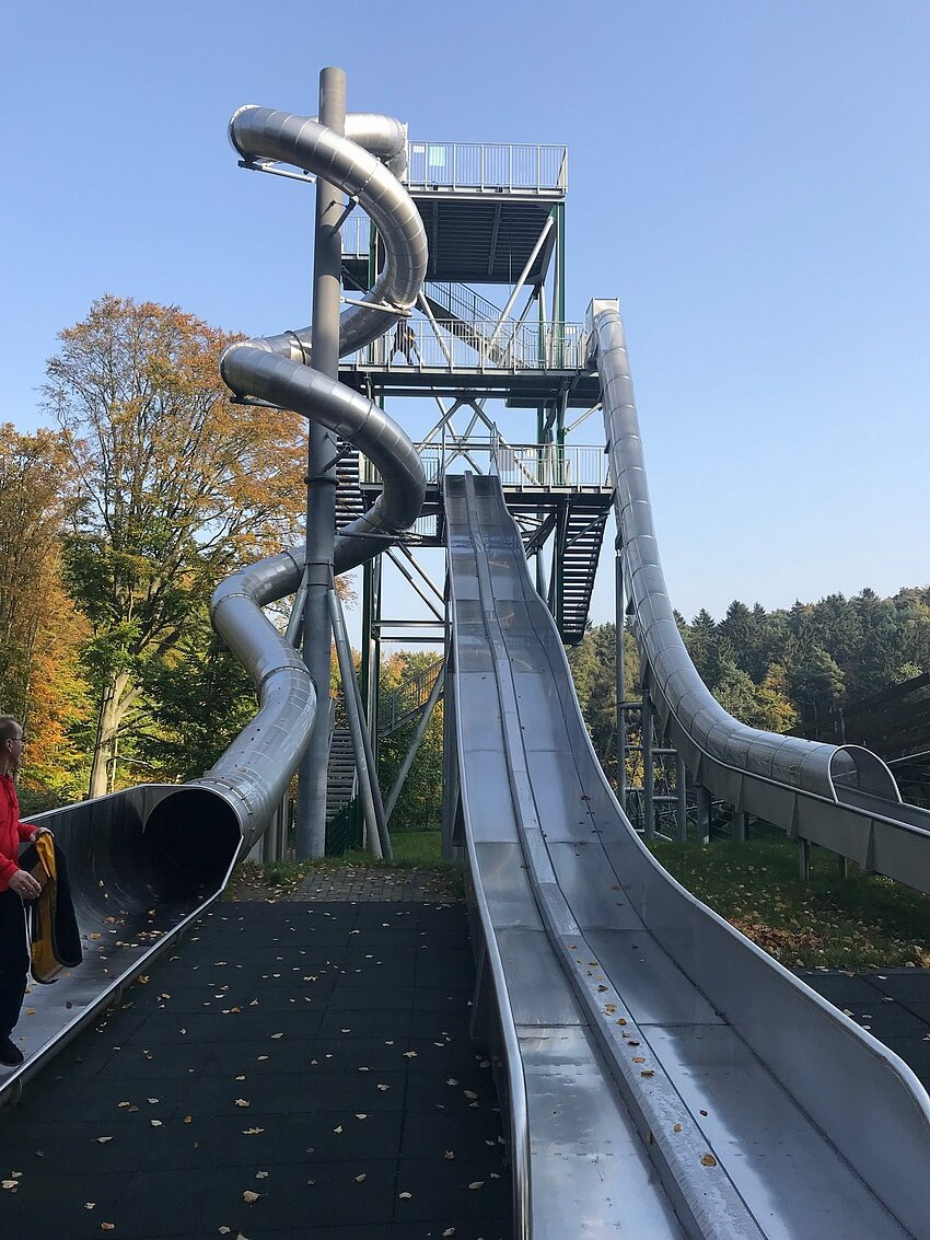 The slide tower in full glory
