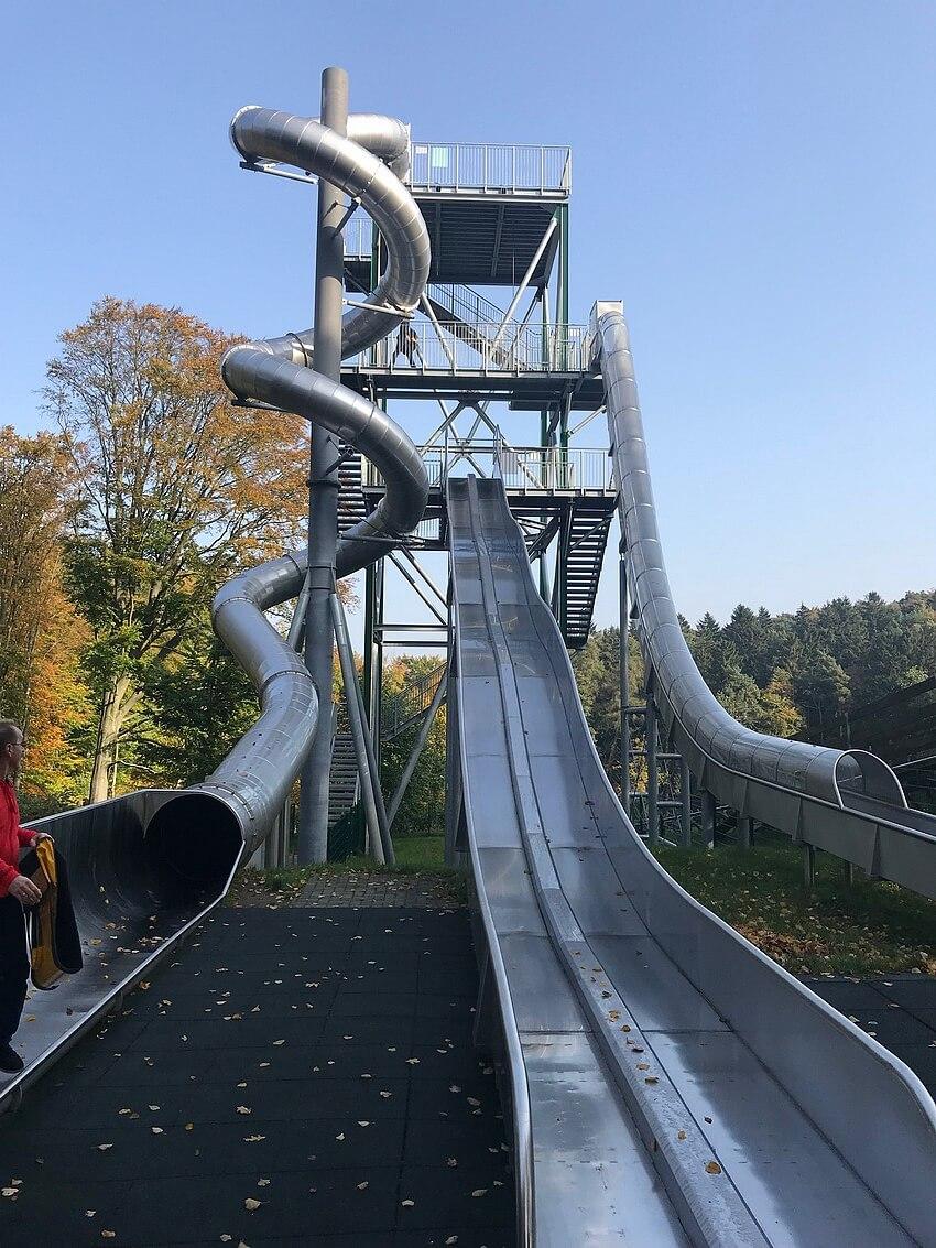 The slide tower in full glory
