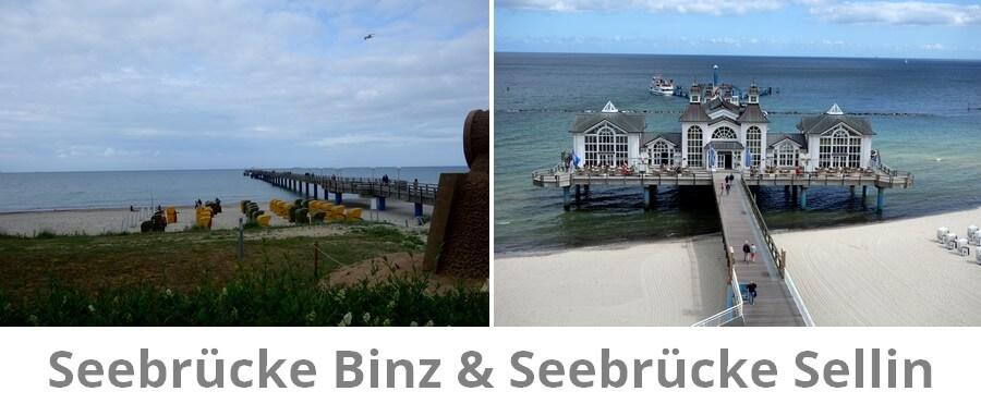 Die Seebrücken im Vergleich