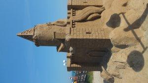 Sandskulptur Burg an der Seebrücke