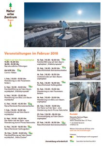 Program Naturerbezentrum Prora Februar 2018