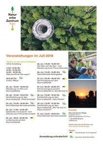 Programm Naturerbezentrum Juli 2018