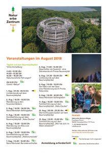 Programm Naturerbezentrum August 2018