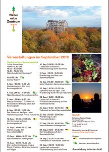 Programm Naturerbezentrum September 2018