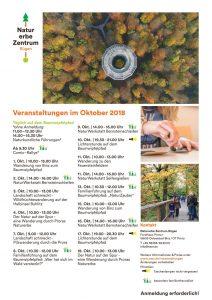 Programm Naturerbezentrum Oktober 2018
