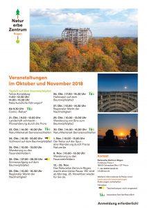 Programm Naturerbezentrum Oktober November 2018
