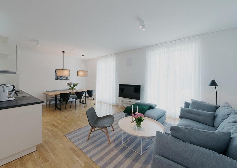Look through the apartment 11