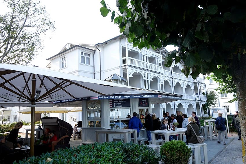 Restaurants an der Strandpromenade in Binz