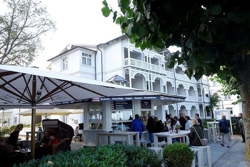 Restaurants an der Strandpromenade in Binz