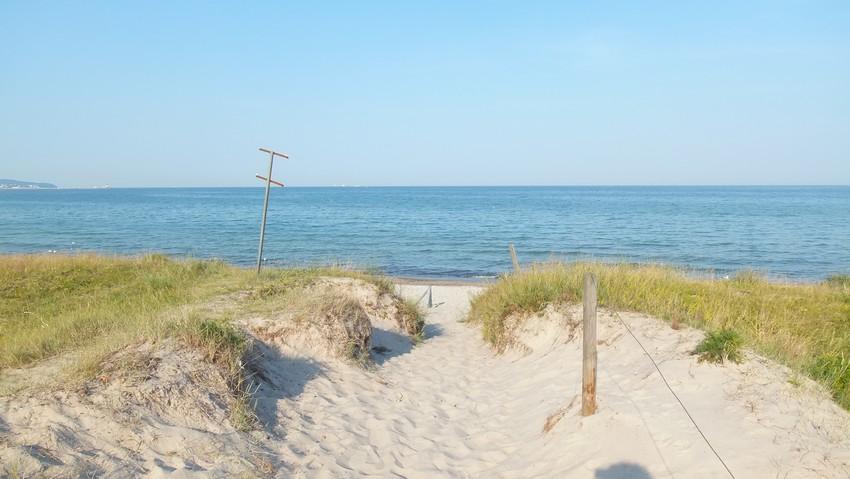 Strandzugang zum Naturstrand Prora