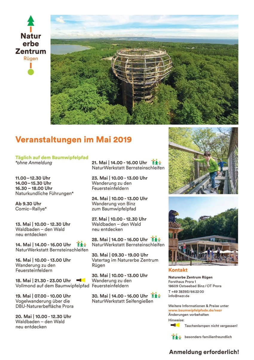 Treetop path Prora events-may 2019