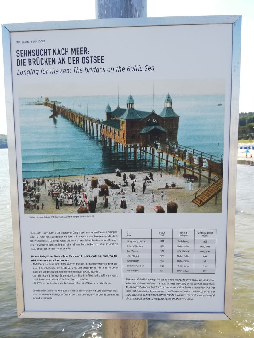 Pier BINZ to 1913: Open-air exhibition on the pier of the Kurverwaltung