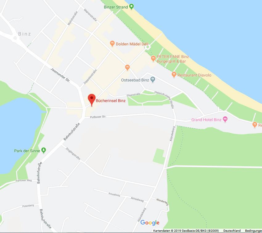 Bücherinsel Binz auf Google Maps