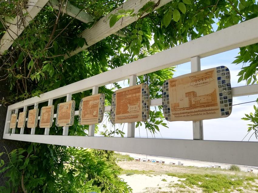 Clay panels Binzer open-air exhibition