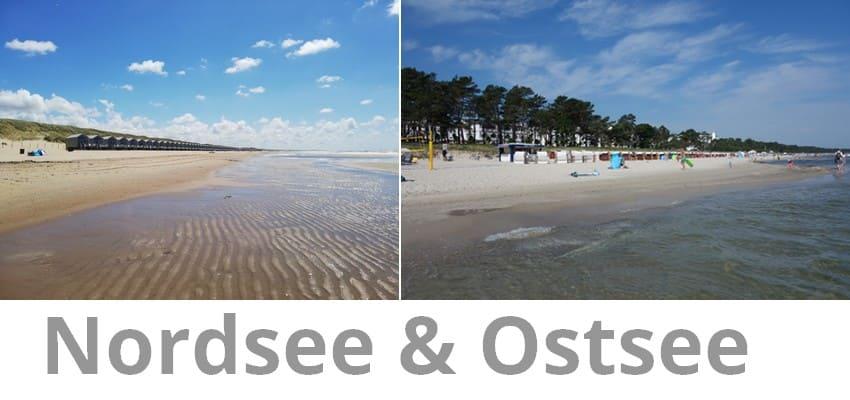 North Sea in the Netherlands vs. Baltic Sea in Binz on Rügen