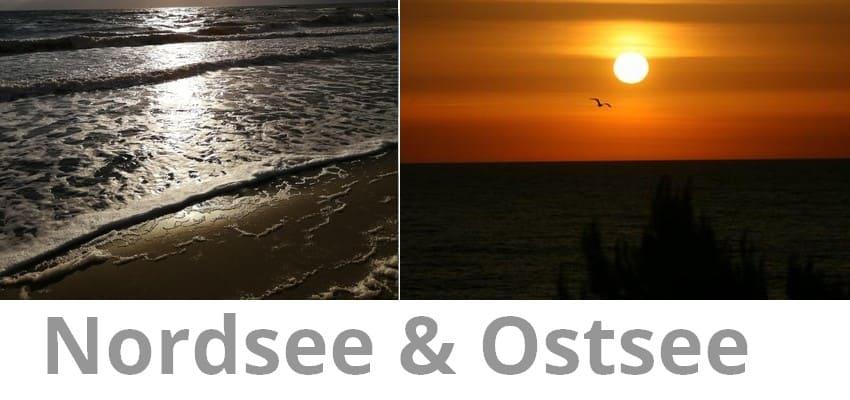 Sonnenuntergänge an Nord und Ostsee
