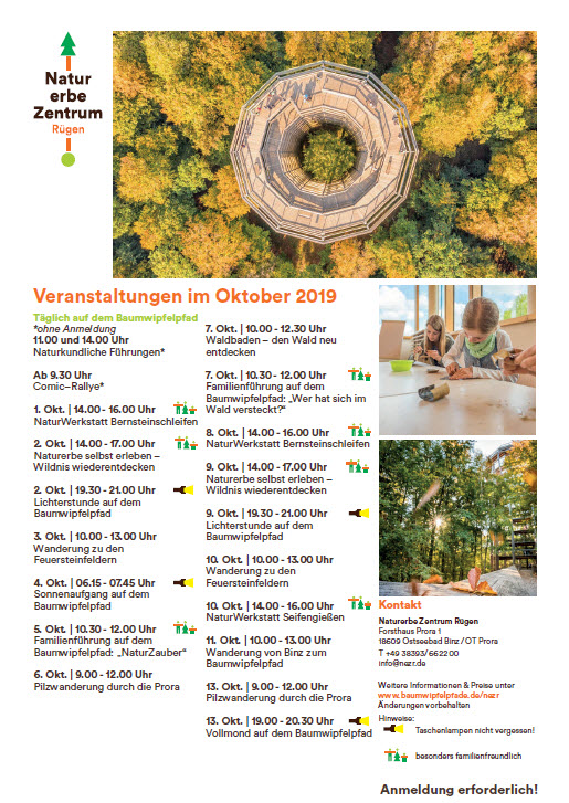 Events Nature Heritage Centre Prora-October 2019