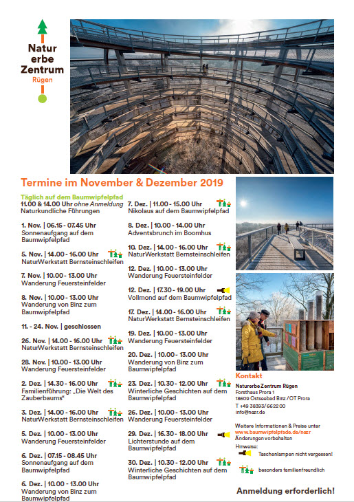 Prora-November and December Natural Heritage Centre 2019