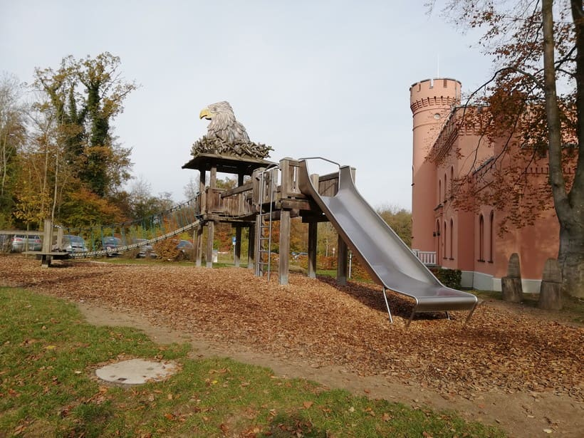 Playground at the treetop path Prora