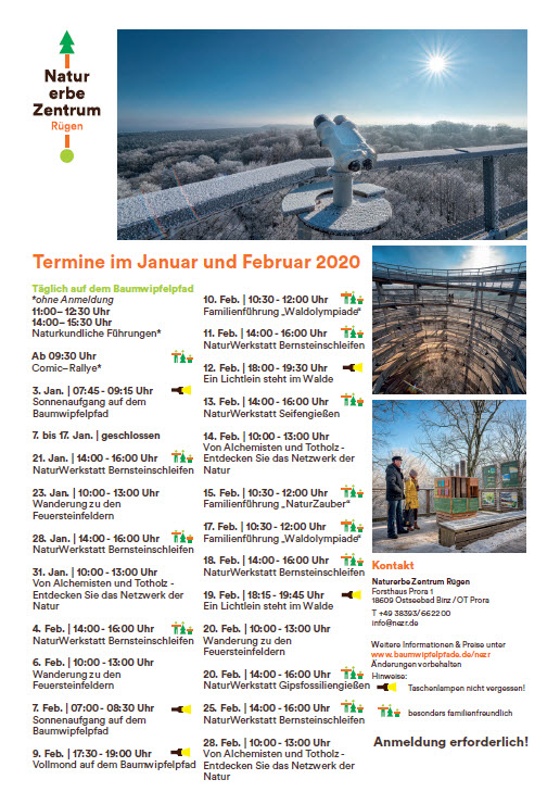 Program Treetop Path Prora Jan/Feb 2020
