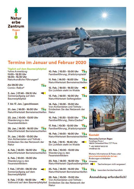 Program Treetop Path Prora Jan/Feb 2020