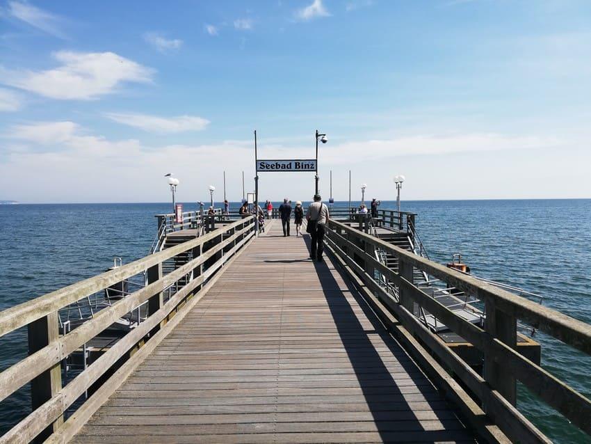 Angelmöglichkeit von der Seebrücke