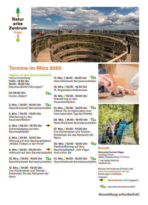 Program Treetop Path Prora March 2020