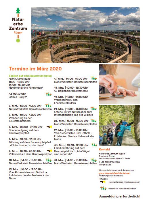 Program Treetop Path Prora March 2020