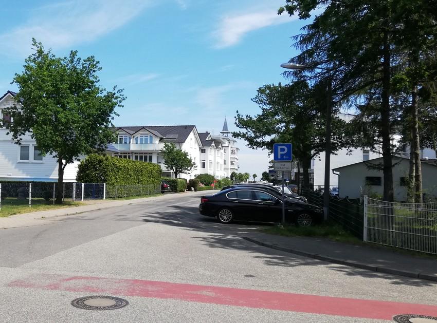 Parken mit Parkschein in Binz