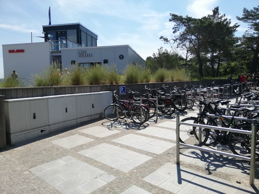 Bicycles at the new DLRG watchtower 2 in BINZ