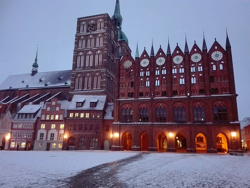Town Hall and Old Market in Winter