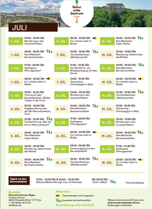 Baumwipfelpfad Programm Juli2021